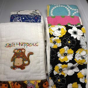 14 Trifold Decorated Cloth Diapers - Inserts